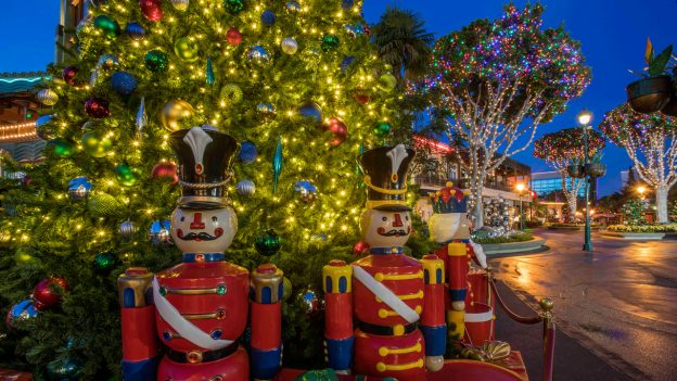downtown disney also joins in on the christmas time fun with lavish lights and decorations throughout the area