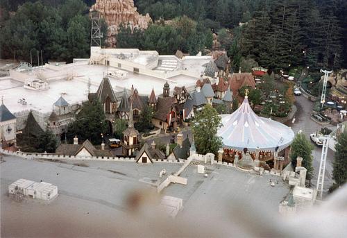 fantasyland as seen from the top of the matterhorn