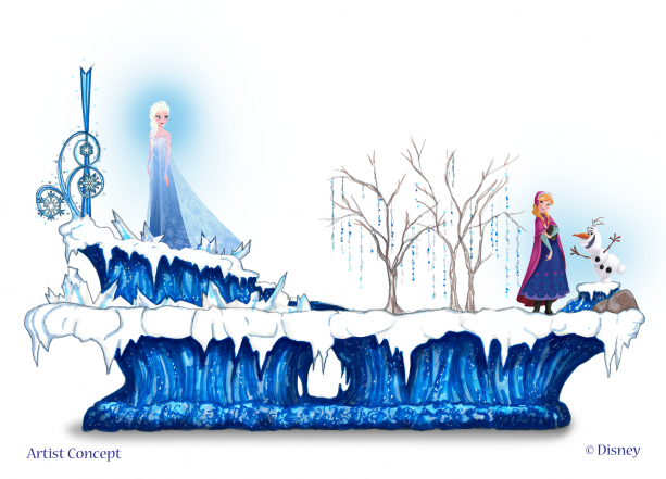 Confirmed frozen pre parade coming to disneyland this summer for Princess float ideas