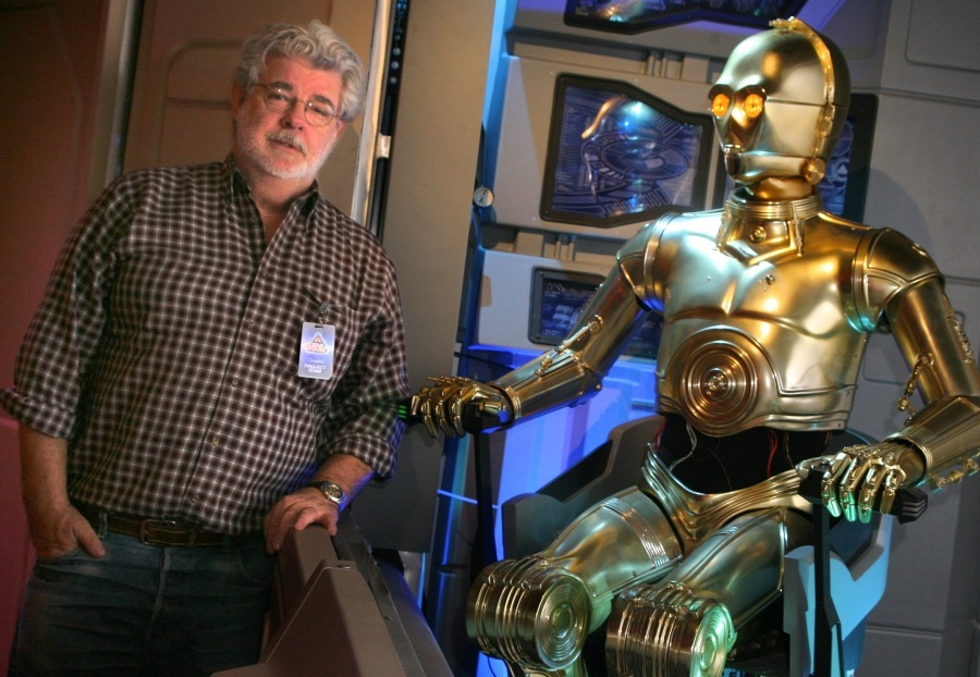 George Lucas visits Star Tours