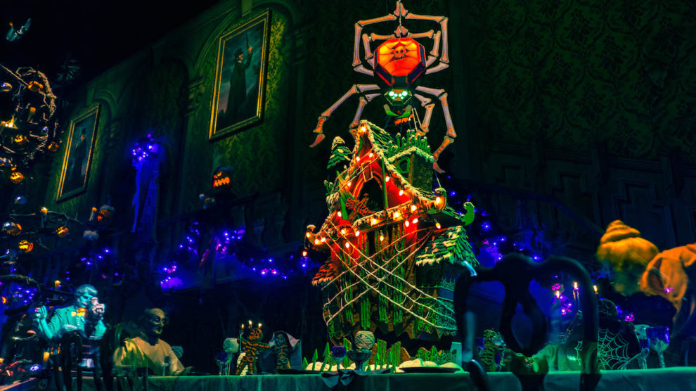 Gingerbread house in Haunted Mansion Holiday