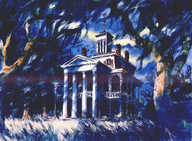 haunted mansion concept artwork