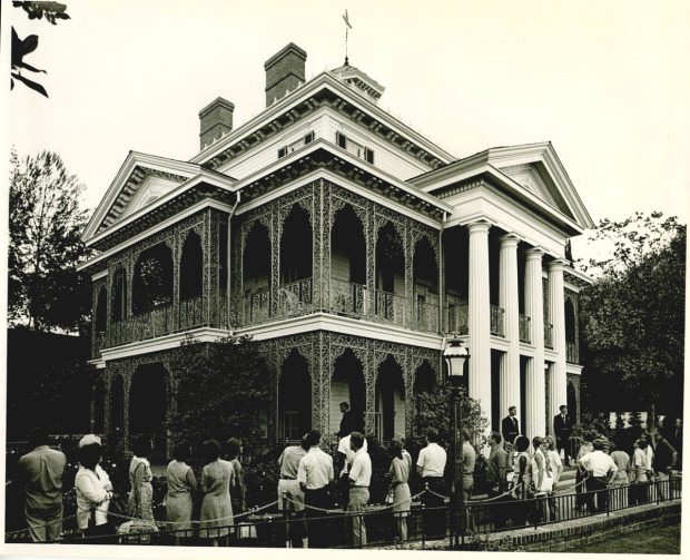 haunted mansion historical photos disneyland