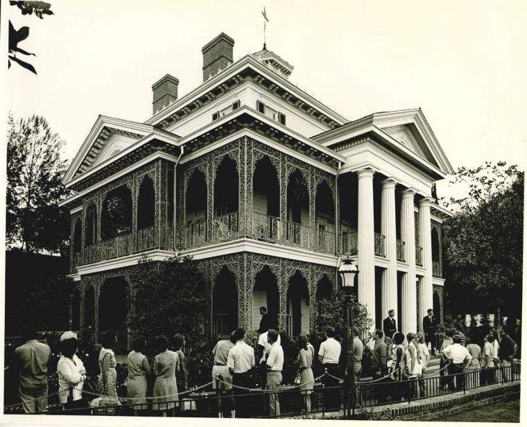 haunted mansion historical photos disneyland