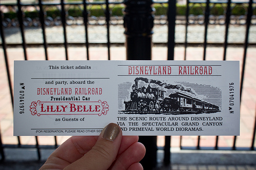 Disneyland lilly belle car closed