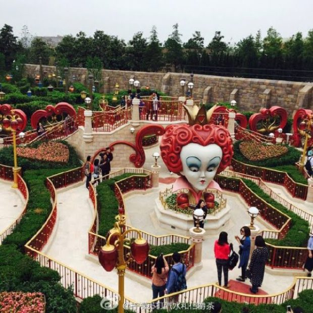 maze alice in wonderland shanghai disneyland