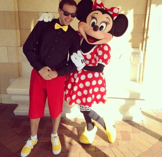 mickey mouse and minnie mouse dapper day 2014