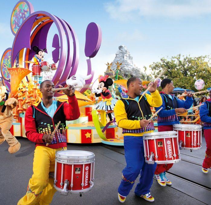Disneyland in the summer