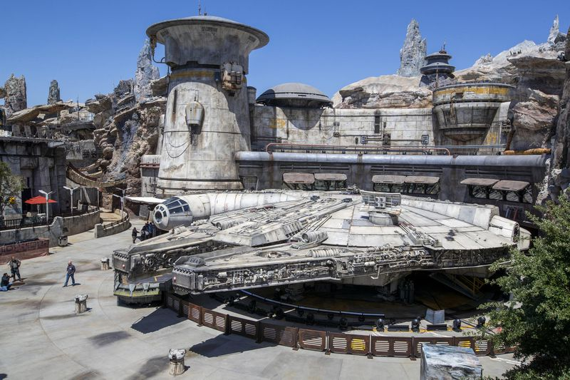 Millennium Falcon from above during the day