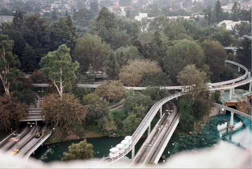 monorail from the top of the matterhorn