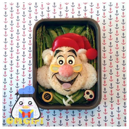 mr. smee peter pan disney bento box