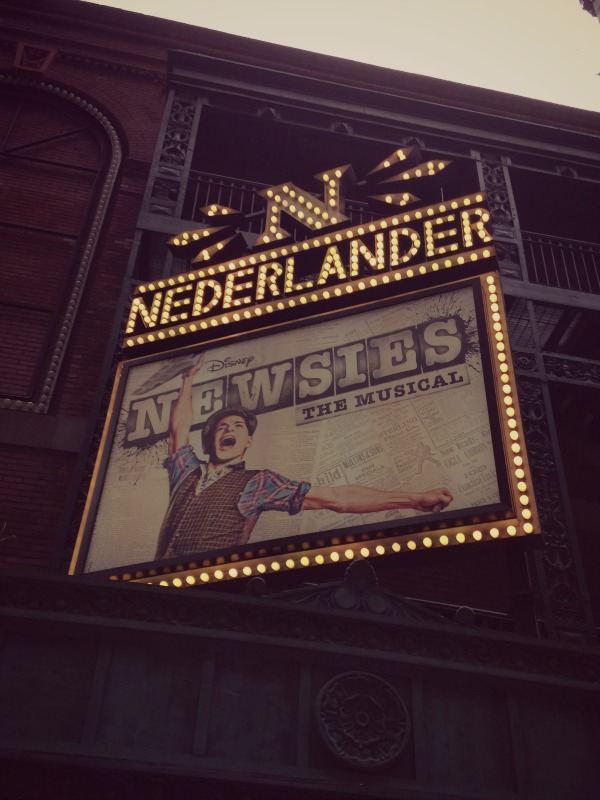 newsies nederlander theater new york city