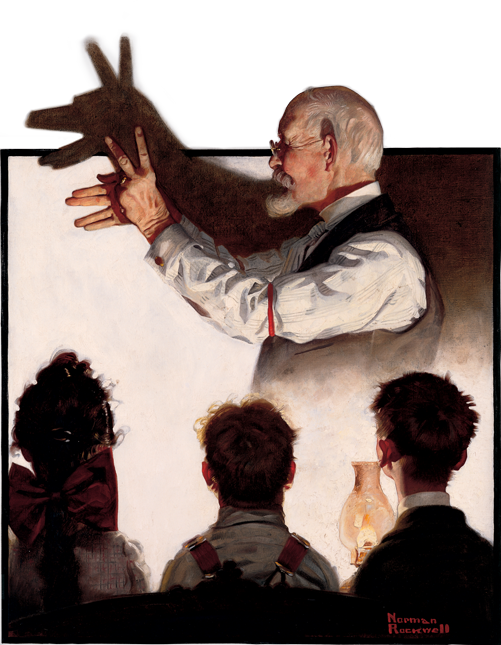 norman-rockwell-shadow-puppet