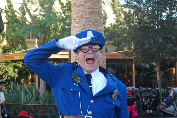 officer blue disney california adventure
