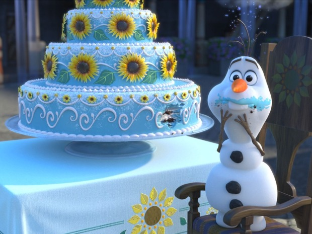 olaf cake frozen fever