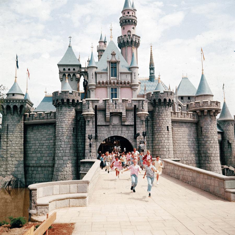 Sleeping Beauty's Castle on Opening Day