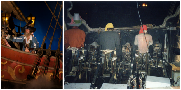 pirates of the caribbean disneyland boat scene cannons backstage