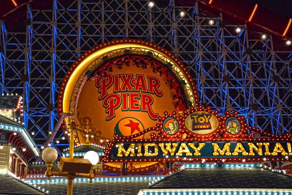 Pixar Pier at night- Summer Disneyland
