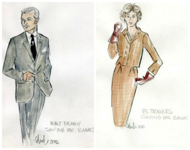 saving mr banks costume sketches