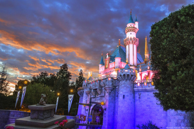 sleeping_beauty_castle_at_sunset