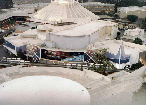 space mountain as seen from the top of the matterhorn