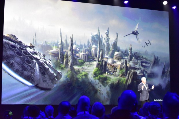 Bob Chapek, the Chairman of Parks and Resorts talks about Star Wars Land.