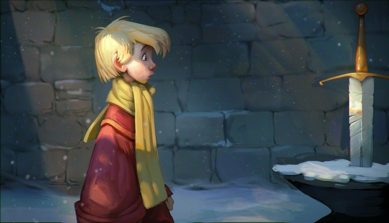 sword in the stone painting