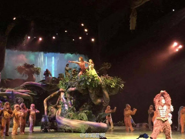 tarzan show shanghai disneyland