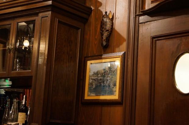 trophy room club 33 wall giraffe mask