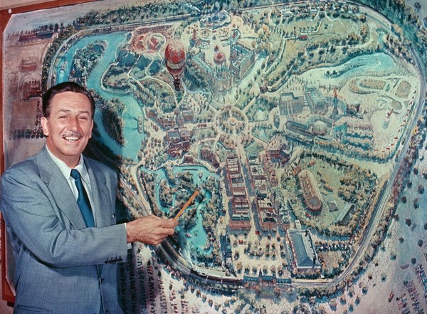 walt disney disneyland map tv show