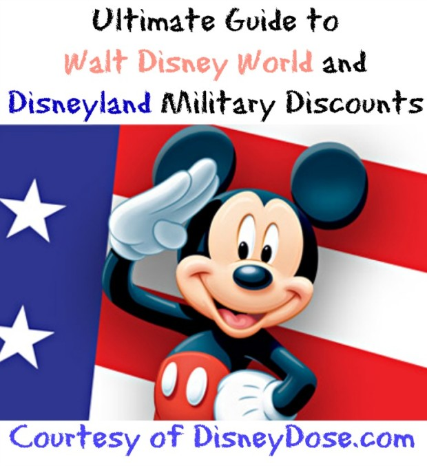 walt disney world and disneyland military discount